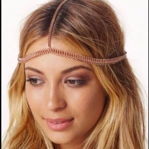 Free People rose gold head piece